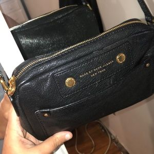 Marc by Marc Jacobs black leather cross body